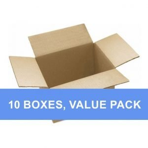 open brown cardboard box value pack
