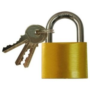 50mm bronze padlock with 3 keys