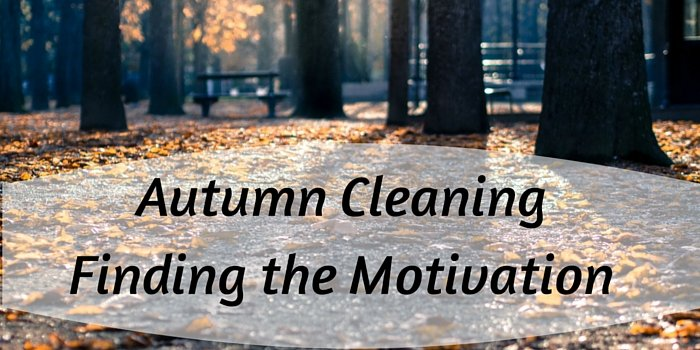 autumn cleaning motivation blog header image with leaves