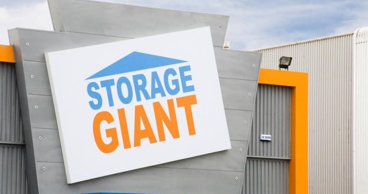 Storage Giant Canopy sign in Cardiff