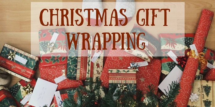 christmas gift wrapping blog header image