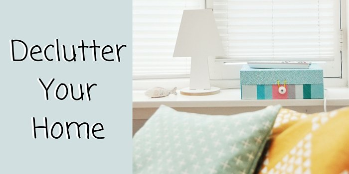 declutter your home blog header image with cushions
