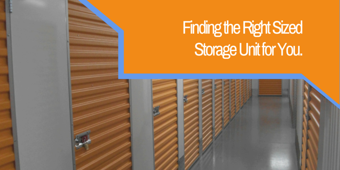 finding the right sized storage unit for you blog header image