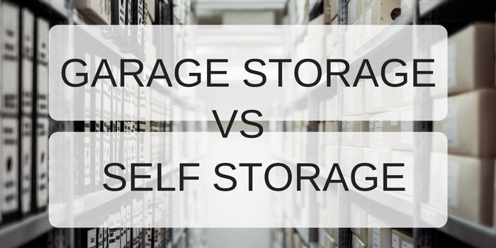 Garage storage vs self storage