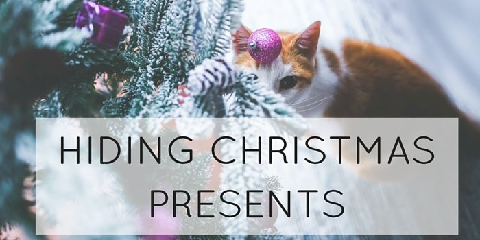 hiding christmas presents blog header image
