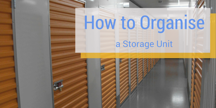 how to organise a storage unit blog header image