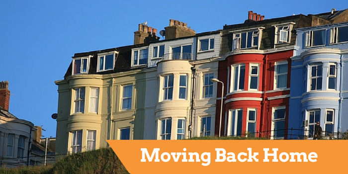 moving back home blog header image with terraced houses