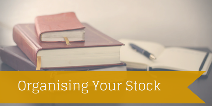 organising your stock blog header image with books