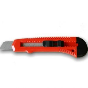 small red packing knife