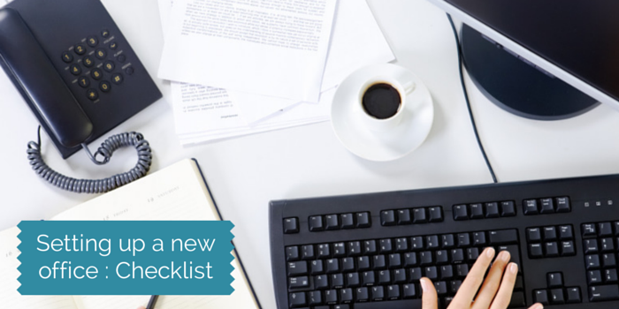 setting up a new office checklist blog header image
