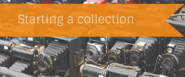 starting a collection blog header image with cameras