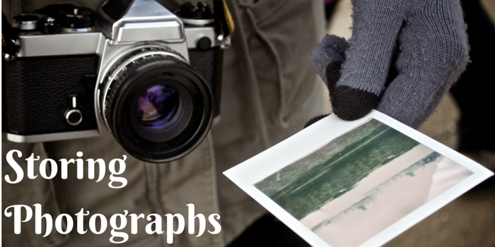 storing photographs blog header image with print