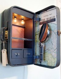 Vintage up-cycled suitcase