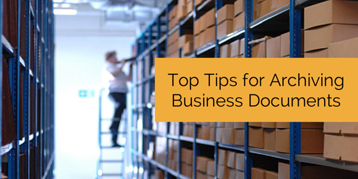 tips for archiving business documents blog header image