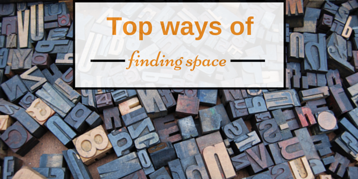 top ways of finding space blog header image