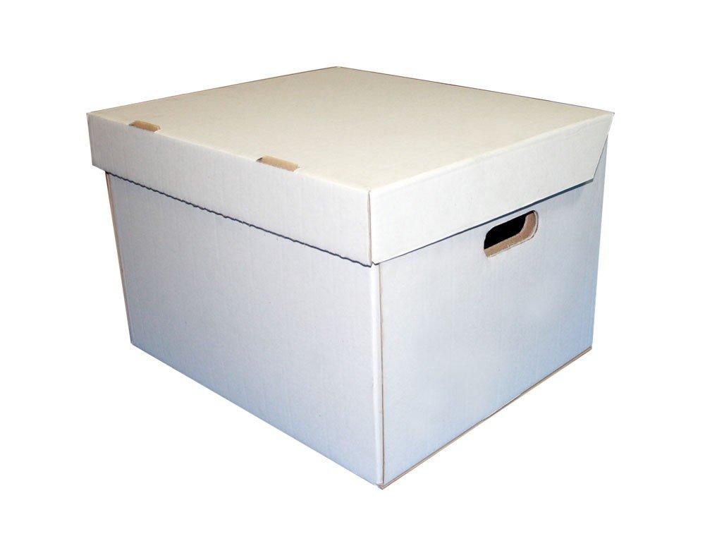 Closed White Cardboard Box