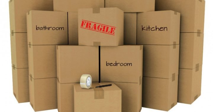 moving house boxes with room names