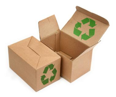 2 corrugated boxes that is recycled