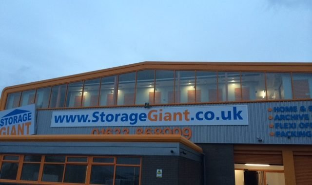 storage giant store at dusk